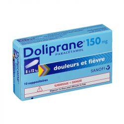 DOLIPRANE 150MG SUPPOSITOIRES 10