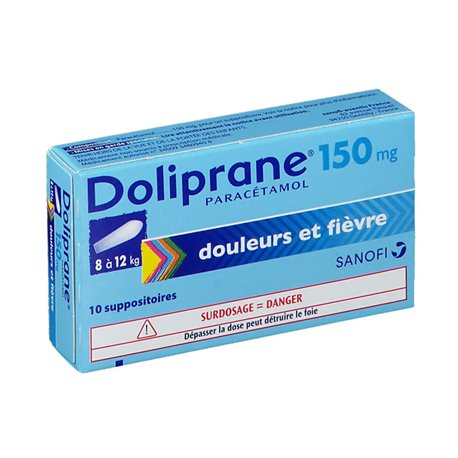 DOLIPRANE 150MG SUPPOSITOIRES 10