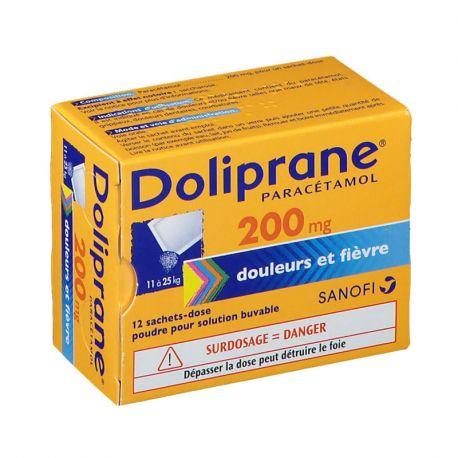 DOLIPRANE 200MG SACHETS 12