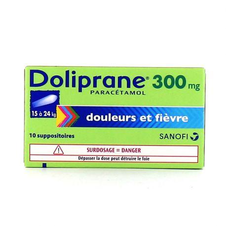 DOLIPRANE 300MG SUPPOSITOIRES 10