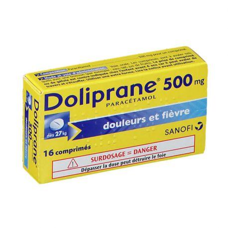 DOLIPRANE 500MG COMPRIMES 16