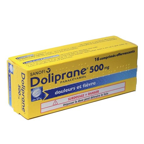 DOLIPRANE 500MG COMRIMES EFFERVESCENTS 16