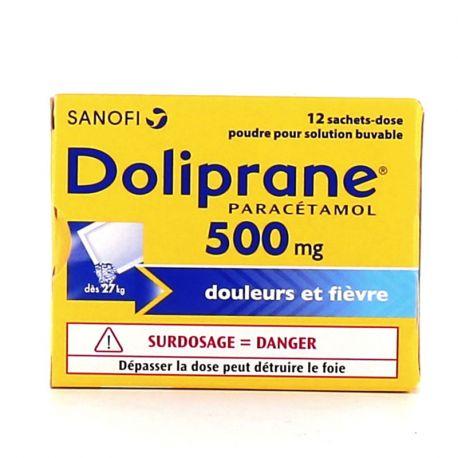 DOLIPRANE 500MG SACHETS 12