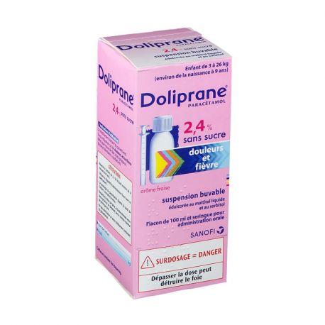 DOLIPRANE 2,4% SUSPENSION BUVABLE 100ML