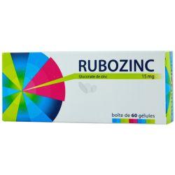 RUBOZINC 15MG GELULE 60