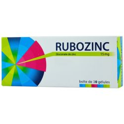 RUBOZINC 15MG GELULE 30