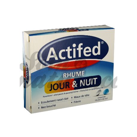 ACTIFED RHUME JOUR ET NUIT COMPRIMES