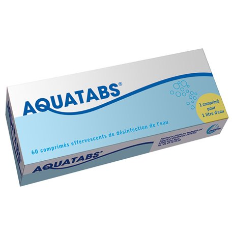 AQUATABS COMPRIMES EFFERVESCENTS 60 (1L / CPR)