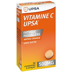 VITAMINE C 500MG UPSA CPR CROQ 30