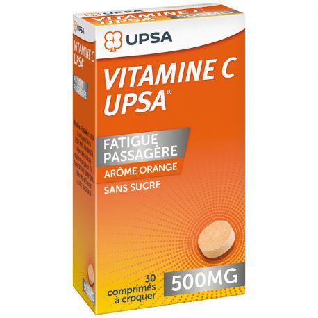 VITAMINE C 500MG UPSA CPR CROQ 30
