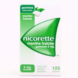 NICORETTE 4MG GOMMES MENTE FRAICHE SANS SUCRE 105