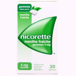 NICORETTE 4MG GOMMES MENTE FRAICHE SANS SUCRE 30