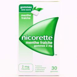 NICORETTE 2MG GOMMES MENTE FRAICHE SANS SUCRE 30