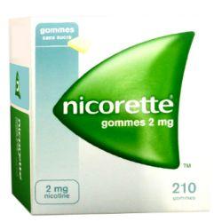 NICORETTE 2MG GOMMES SANS SUCRE 210