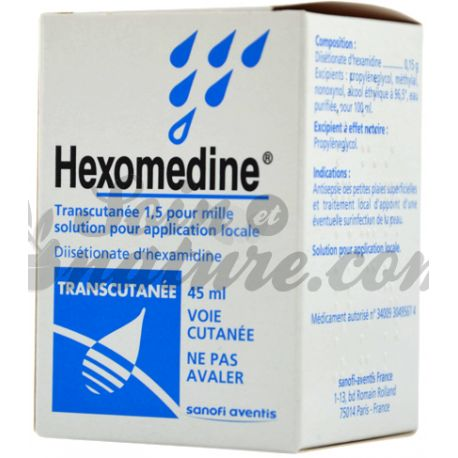HEXOMEDINE TRANSCUTANEE FLACON 45ML