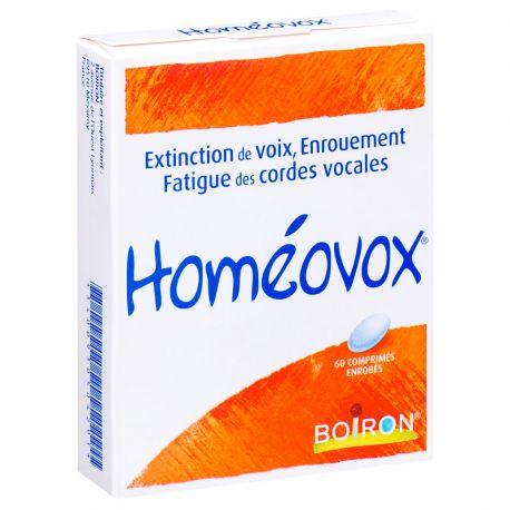 HOMEOVOX 60 CP HOMEOPATHIE BOIRON