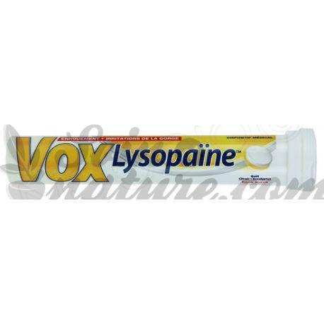 VOXLYSOPAINE CITRON EUCALYTUS PASTILLES
