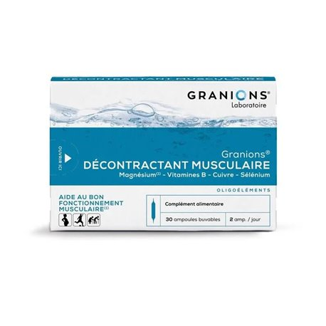 Granions relaxant muscular 30 BOMBETES BEBIBLE