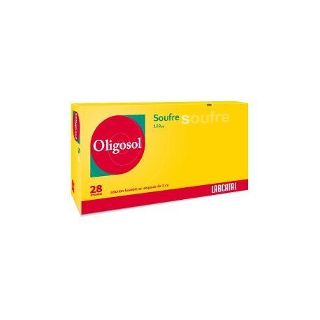 OLIGOSOL SOUFRE (S) 28 AMPOULES Minéraux & Oligo-Elements