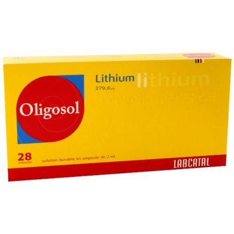 OLIGOSOL LITHIUM 2ML AMPOULES 28