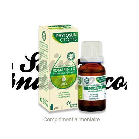 PHYTOSUN AROMS HUILE ESSENTIELLE BIO Romarin 1.8 ROSMARINUS OFF.1,8 BIO 5 ml