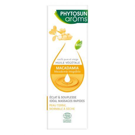 PHYTOSUN AROMS HUILE VEGETALE Macadamia MACADAMIA INTEGRIFOLIA MAIDEN & BETCHE BIO 30 ml