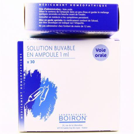 La mucosa sinusal 5CH 4CH 7CH 9CH 8DH ampolles homéopathie Boiron