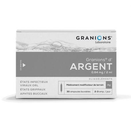 GRANIONS ARGENT AMPOULES BUVABLES 2ML 30