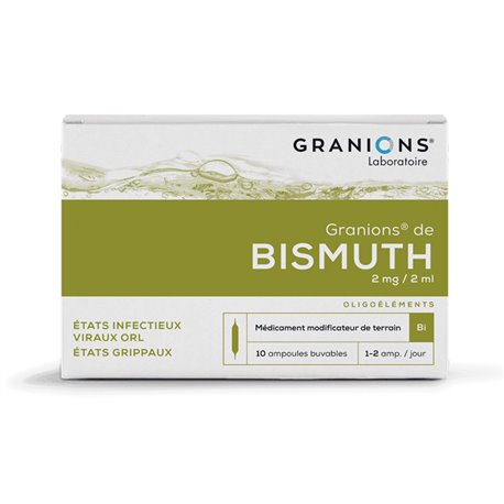 GRANIONS BISMUTH Bi AMPOULES BUVABLES 2ML 10
