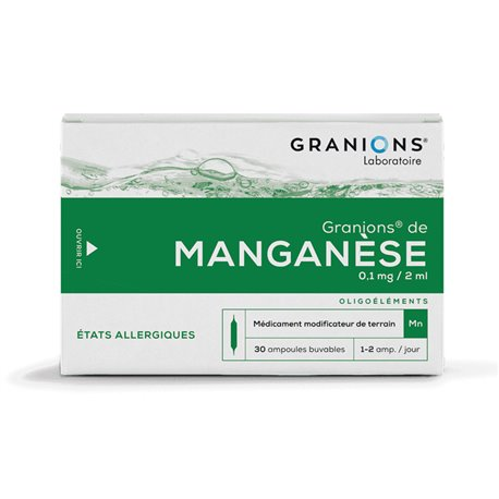GRANIONS MANGANESE AMPOULES BUVABLES 2ML 30