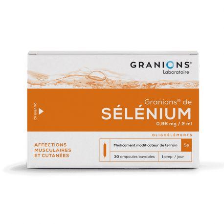 granion de selenium en ampoule