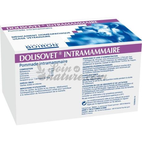 DOLISOVET INTRAMAMMAIRE BOIRON BOITE DE 52 SERINGUES DE 10 G