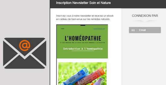 Newsletter soin et nature