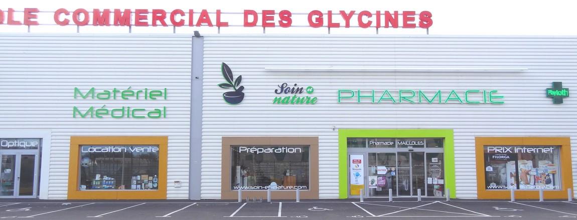 Devanture de la Pharmacie de mailloles - Parapharmacie bio en ligne via l'e-commerce soin-et-nature.com