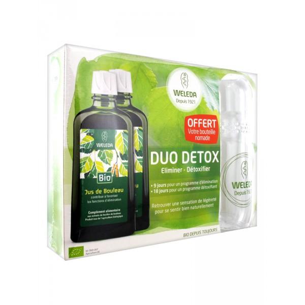 Weleda Duo Detox Jus de Bouleau Bio 200ml+ 1 Gourde Offerte
