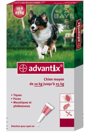 Advantix perro mediano 4 pipetas 2 5 ml bayer - Pipeta advantix despues bano ...