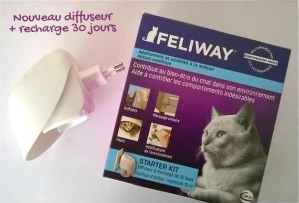 Nouveau diffuseur feliway f3 + recharge 30 jours