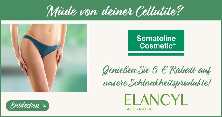 Müde von deiner Cellulite? Entdecken Sie unsere Schlankheits-Auswahl mit 5 € Angeboten auf Somatoline und Elancyl