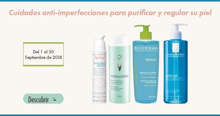 Cuidado anti-imperfecciones para purificar y regular su piel