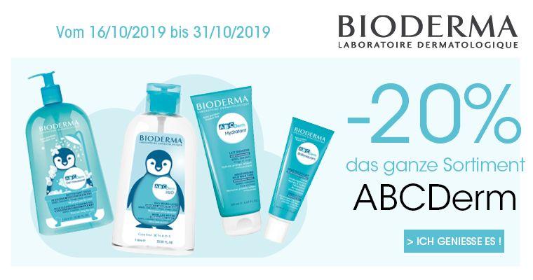 20 % Offert sur ABCDerm Bioderma
