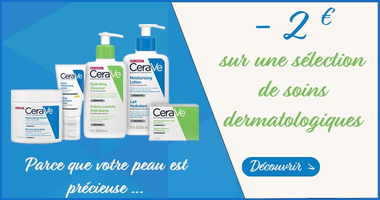 Prenez soin de votre peau grace à notre promotion sur les produits de la gamme CeraVe