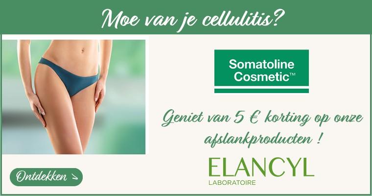 Moe van je cellulitis? Ontdek onze afslankingselectie met 5 € Aangeboden op Somatoline en Elancyl