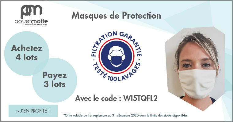 Offre sur les Masques lavable 100 fois